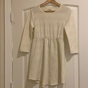 Cream Colored Lace Dress S